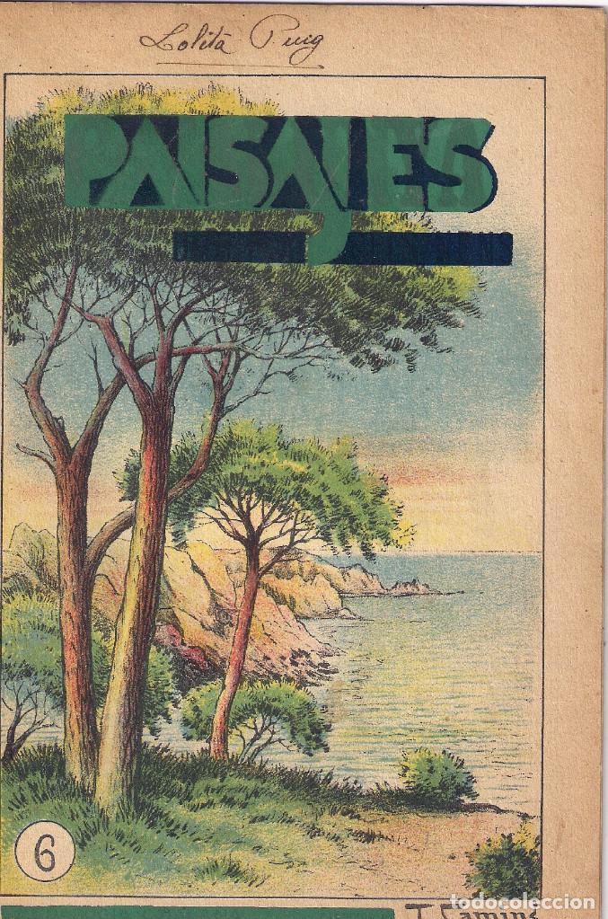 CUENTO PARA PINTAR : PAISAJES - EDITORIAL M. SALVATELLA - ILUSTRADOR : J.CAMINS (Libros Antiguos, Raros y Curiosos - Literatura Infantil y Juvenil - Cuentos)