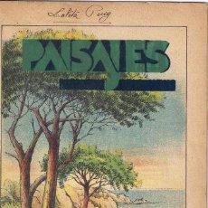 Libros antiguos: CUENTO PARA PINTAR : PAISAJES - EDITORIAL M. SALVATELLA - ILUSTRADOR : J.CAMINS. Lote 148414318