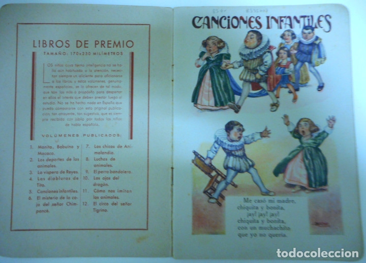 Libros antiguos: Canciones infantiles- Bellas ilustraciones de Joan Llaverias i Labró - Ramón Sopena, años 30. - Foto 2 - 175601965