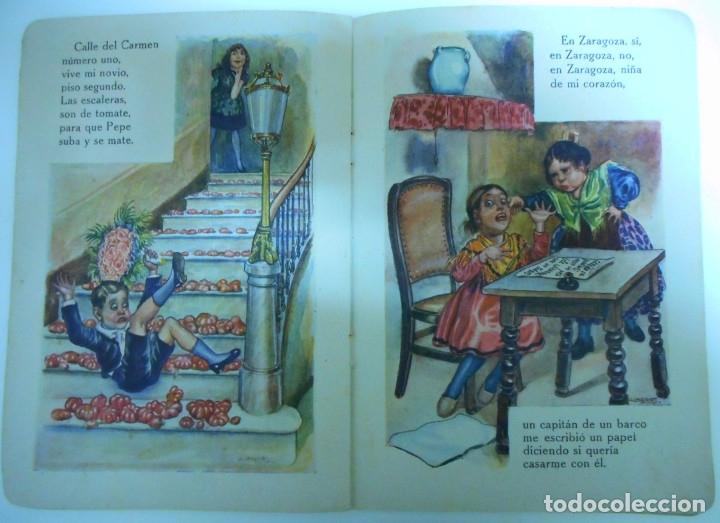 Libros antiguos: Canciones infantiles- Bellas ilustraciones de Joan Llaverias i Labró - Ramón Sopena, años 30. - Foto 5 - 175601965