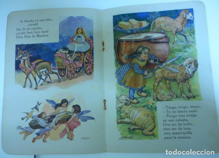 Libros antiguos: Canciones infantiles- Bellas ilustraciones de Joan Llaverias i Labró - Ramón Sopena, años 30. - Foto 8 - 175601965