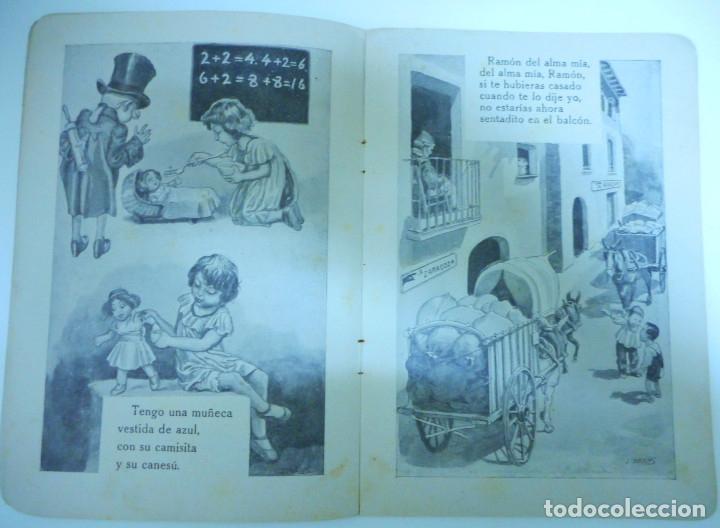 Libros antiguos: Canciones infantiles- Bellas ilustraciones de Joan Llaverias i Labró - Ramón Sopena, años 30. - Foto 7 - 175601965