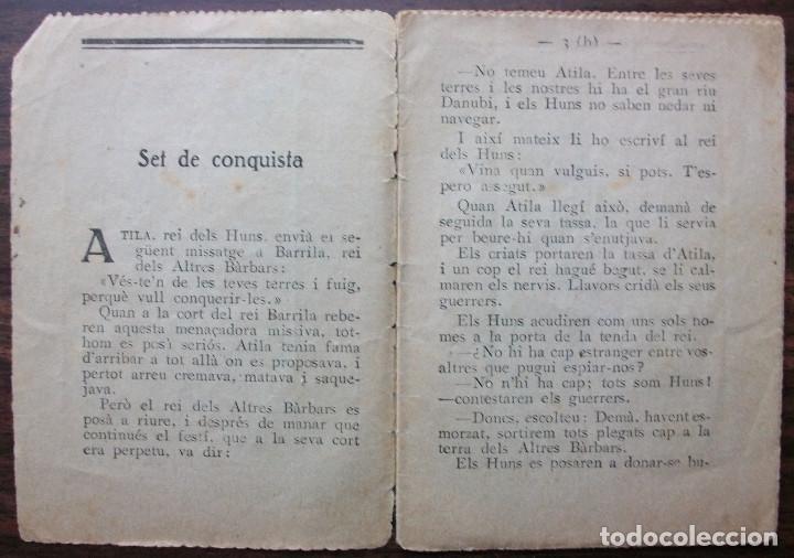 Libros antiguos: ESQUITX Nº 144(B) SET DE CONQUISTA. SUPLEMENT DEN PATUFET - Foto 2 - 149387294