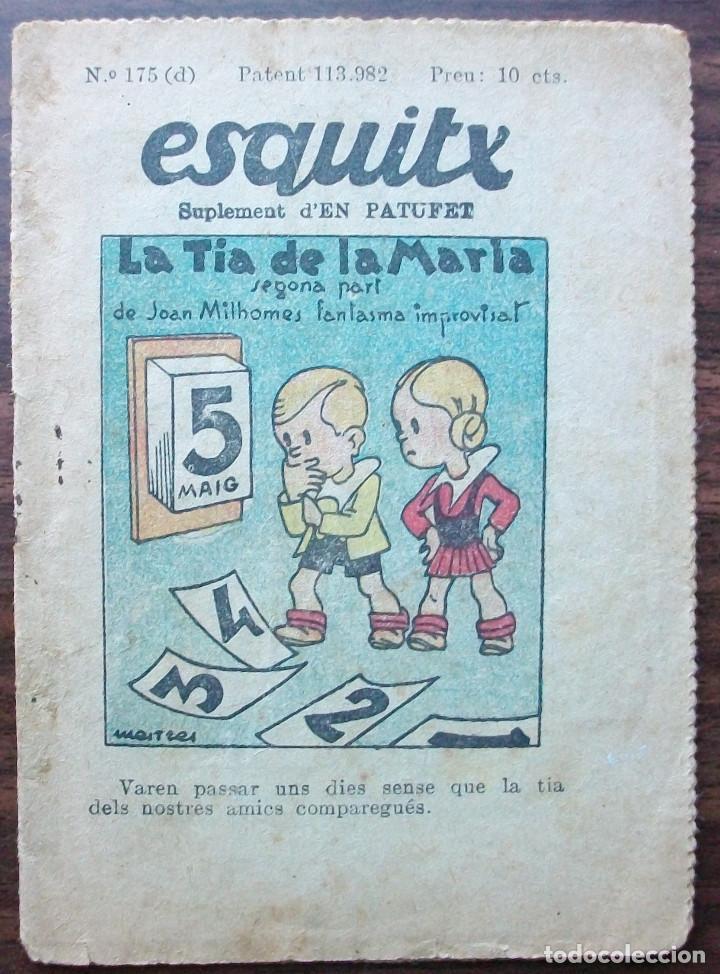 ESQUITX Nº 175(D) LA TIA DE LA MARIA. SUPLEMENT D'EN PATUFET (Libros Antiguos, Raros y Curiosos - Literatura Infantil y Juvenil - Cuentos)