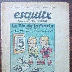 Libros antiguos: ESQUITX Nº 175(D) LA TIA DE LA MARIA. SUPLEMENT D'EN PATUFET. Lote 149387410