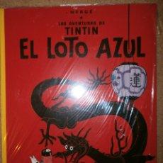Libros antiguos: EL LOTO AZUL LAS AVENTURAS DE TINTIN NUEVO EN SU PLASTICO. Lote 151607450