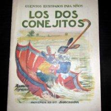 Libros antiguos: LOS DOS CONEJITOS CUENTOS ILUSTRADOS PARA NIÑOS SOPENA C. 1930 . Lote 151617186