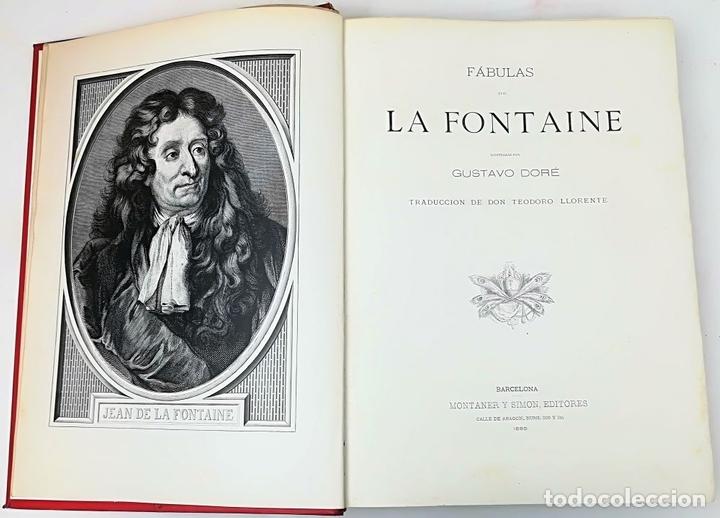 Libros antiguos: FÁBULAS DE LA FONTAINE.JEAN DE LA FONTAINE. EDIT.MONTANER Y SIMÓN BARCELONA 1885 - Foto 6 - 152151578
