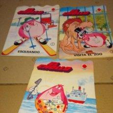 Libros antiguos: 3 CUENTOS EL CHOLLO : BUCEANDO + ESQUIANDO + VISITA EL ZOO. Lote 152322734