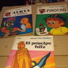 Libros antiguos: 2 CUENTOS : EL PRINCIPE FELIZ + PINOCHO + ALICIA EN EL PAIS DE LAS MARAVILLAS. Lote 152323146