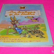 Libros antiguos: FABULAS FAMOSAS VOLUMEN II LA TORTUGA Y LA LIEBRE, LA RANA Y EL BUEY, EL RATON DE CIUDAD Y DE CAMPO.. Lote 152347550