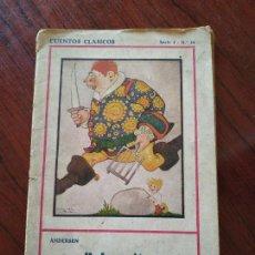 Libros antiguos: PULGARCITO Y LA BELLA DURMIENTE (JULIO 1931) DE HANS CHRISTIAN ANDERSEN - EDITORIAL JUVENTUD. Lote 152548166