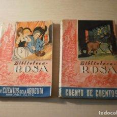 Libros antiguos: 2 LIBROS CUENTOS - BIBLIOTECA ROSA. Lote 153101386