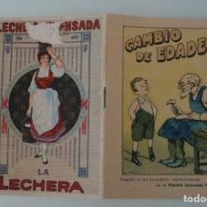 Libros antiguos: CAMBIO DE EDADES – COLECCIÓN CUENTOS ESCOGIDOS SERIE I TOMO 7 – REGALO GENTILEZA NESTLE – ANTIGUO . Lote 153664386
