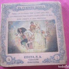 Libros antiguos: EL CUENTO ROSA. HUBO UN PAYASO QUE LLORÓ / LA PRINCESA QUE NUNCA AGUILAR CATENA. Lote 155085926
