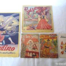 Libros antiguos: LOTE 5 ANTIGUOS CUENTOS INFANTILES. Lote 155241478