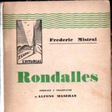 Libros antiguos: FREDERIC MISTRAL : RONDALLES (FLUID, TERRASSA, 1930). Lote 155273018