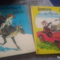 Libros antiguos: VACACIÓN EN SUECIA ,AVENTURAS EN ÁFRICA.LITO EDICIONES. Lote 156962590