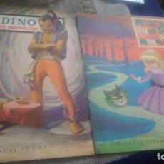 Libros antiguos: ALICIA EN EL PAÍS DE LAS MARAVILLAS+ ALADINO, GRANDES ÁLBUMES EVA.. Lote 156964978