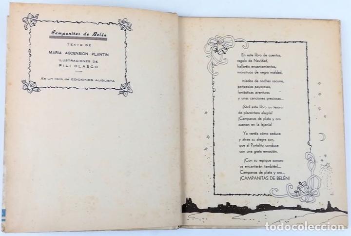 Libros antiguos: CAMPANITAS DE BELÉN. MARÍA ASCENSIÓN PLANTÍN. EDICIONES AUGUSTA. SAN SEBASTIÁN 1942 - Foto 4 - 157248842