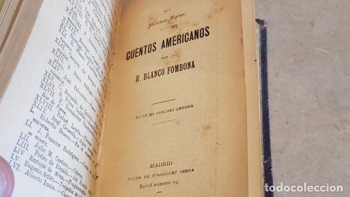 Libros antiguos: CUENTOS / JACINTO O. PICON / BIBLIOTECA MIGNON - AÑO 1910 / MUY BUEN ESTADO. - Foto 3 - 158855638