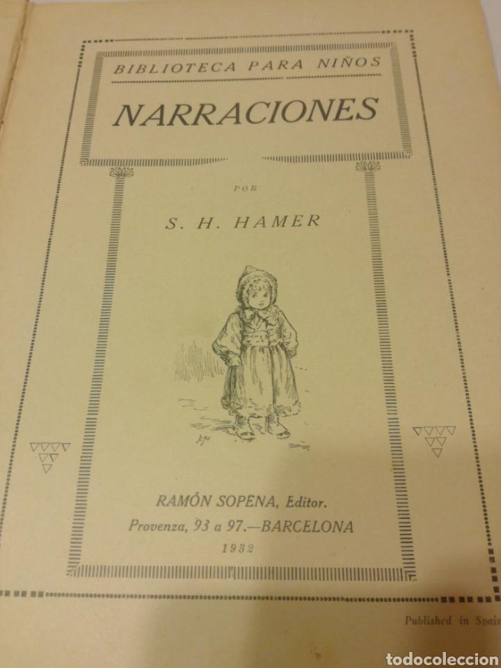 Libros antiguos: NARRACIONES DE BIBLIOTECA PARA NIÑOS - Foto 2 - 159909800
