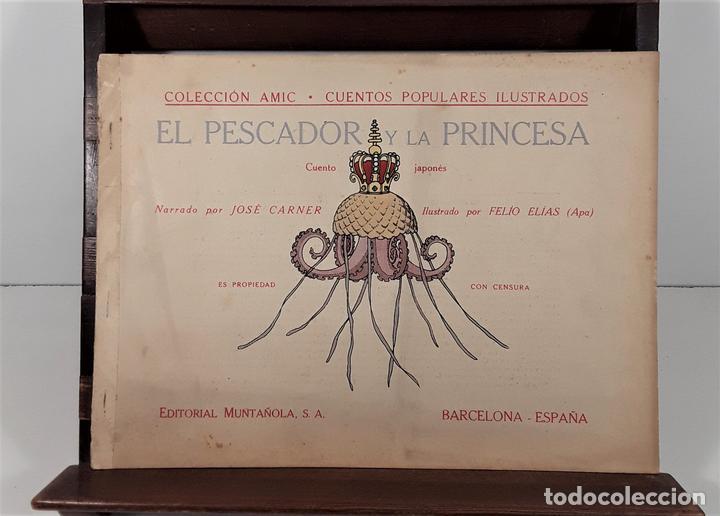 EL PESCADOR Y LA PRINCESA. J. CARNER. EDIT. MUNTAÑOLA. BARCELONA. CIRCA 1925. (Libros Antiguos, Raros y Curiosos - Literatura Infantil y Juvenil - Cuentos)