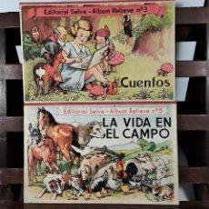 Libros antiguos: COLECCIÓN ALBUMS RELIEVE SELVA. 2 EJEMPLARES. BARCELONA. AÑOS 30?.. Lote 160356426
