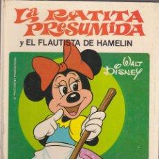 Libros antiguos: CUENTOS POPULARES WALT DISNEY EDITORIAL BRUGUERA LA RATITA PRESUMIDA. Lote 161085294