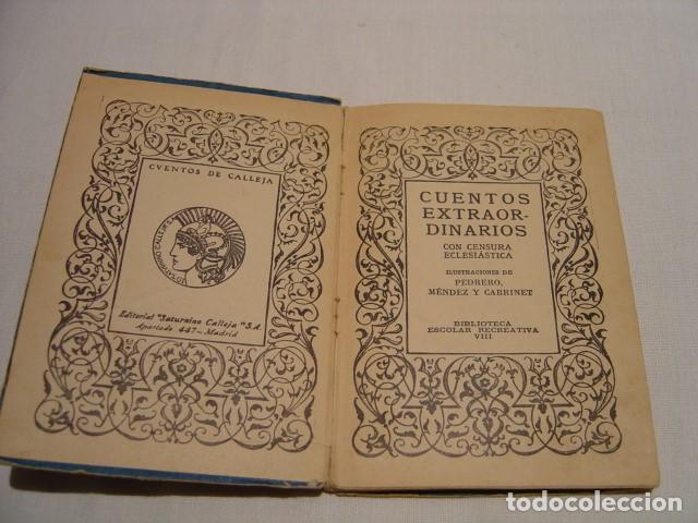 Libros antiguos: CUENTOS EXTRAORDINARIOS - LA REINA DE LAS HORMIGAS - CALLEJA BIBLIOTECA ESCOLAR RECREATIVA - Foto 11 - 163130742