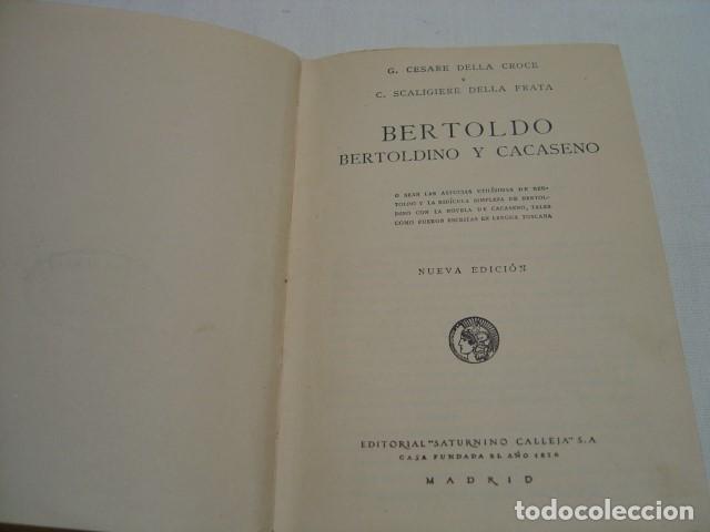 Libros antiguos: BERTOLDO - CALLEJA BIBLIOTECA ILUSTRADA XXIII NUEVA EDICIÓN - Foto 4 - 163134690