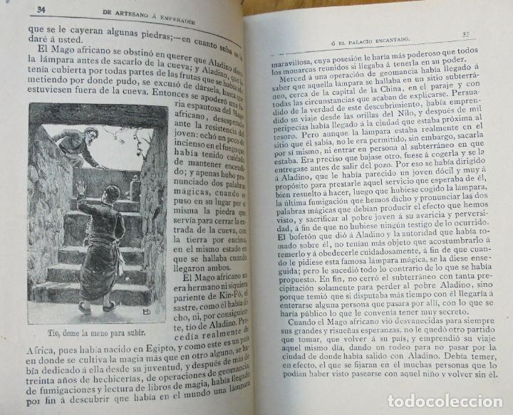 Libros antiguos: De artesano a emperador ó El palacio encantado. Ilustrado por Díaz Huertas. Calleja. Grabados - Foto 3 - 163452246