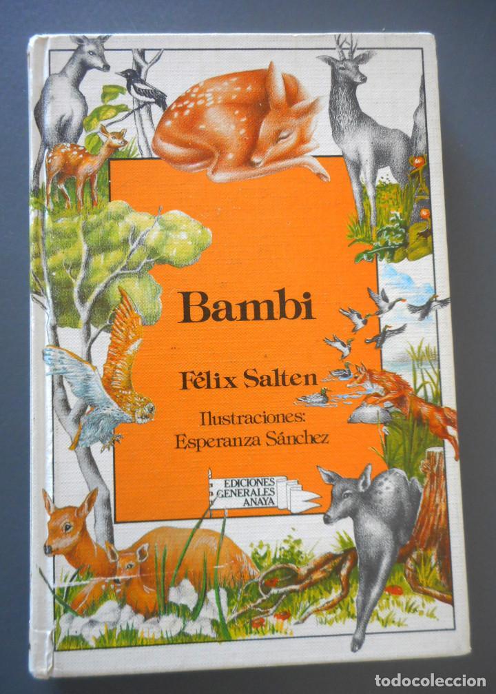 BAMBI - EDICIONES GENERALES ANAYA - 1ª EDICIÓN, 1985 (Libros Antiguos, Raros y Curiosos - Literatura Infantil y Juvenil - Cuentos)