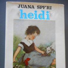 Libros antiguos: HEIDI - EDICIÓN REGALO CON LAMINAS A COLOR - JUVENTUD, 1967. Lote 163766046
