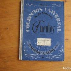 Libros antiguos: COLECCIÓN UNIVERSAL CUENTOS TOMO VI A. DE MUSSET ESPASA CALPE. Lote 163770302
