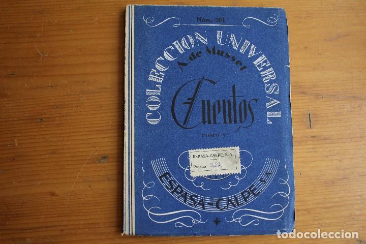 COLECCIÓN UNIVERSAL CUENTOS TOMO V A. DE MUSSET ESPASA CALPE (Libros Antiguos, Raros y Curiosos - Literatura Infantil y Juvenil - Cuentos)