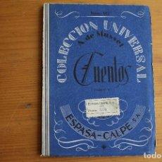 Libros antiguos: COLECCIÓN UNIVERSAL CUENTOS TOMO V A. DE MUSSET ESPASA CALPE. Lote 163770438