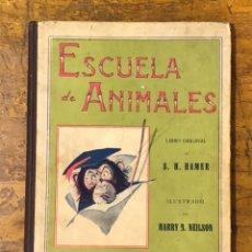 Libros antiguos: ESCUELA DE ANIMALES, ANTIGUO CUENTO. Lote 164598614
