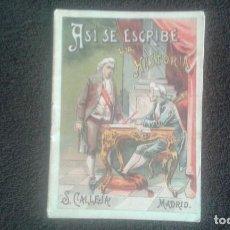 Libros antiguos: ASI SE ESCRIBE LA HISTORIA. SATURNINO CALLEJA. CUENTO. SERIE X. TOMO 190. AÑO 1902.. Lote 164621574