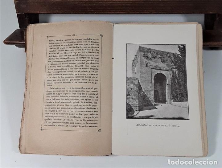 Libros antiguos: CUENTOS DE LA ALAMBRA. W. IRVING. EDIT. P. V. SABATEL. GRANADA. 1888. - Foto 6 - 164708830