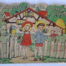 Libros antiguos: LOS ANIMALES DE LA GRANJA FLORIDA - ILUSTRACIONES MARIA CLARET – 5 PTAS . Lote 166501974