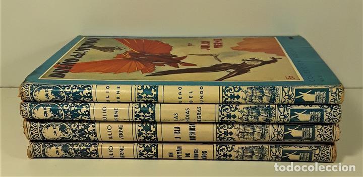 COLECCIÓN MOLINO. 4 TOMOS. JULIO VERNE. EDIT MOLINO. BARCELONA. SIGLO XX. (Libros Antiguos, Raros y Curiosos - Literatura Infantil y Juvenil - Cuentos)
