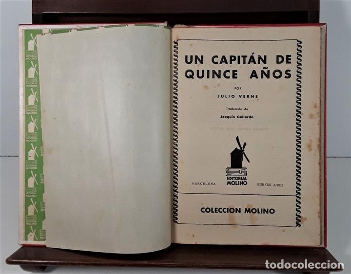 Libros antiguos: COLECCIÓN MOLINO. 4 TOMOS. JULIO VERNE. EDIT MOLINO. BARCELONA. SIGLO XX. - Foto 2 - 168039380