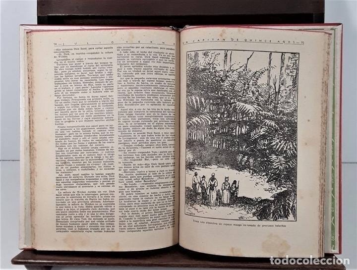 Libros antiguos: COLECCIÓN MOLINO. 4 TOMOS. JULIO VERNE. EDIT MOLINO. BARCELONA. SIGLO XX. - Foto 3 - 168039380