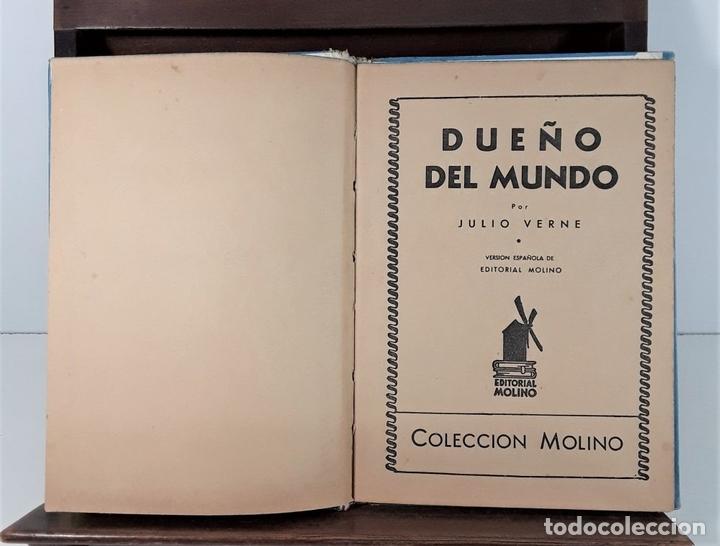 Libros antiguos: COLECCIÓN MOLINO. 4 TOMOS. JULIO VERNE. EDIT MOLINO. BARCELONA. SIGLO XX. - Foto 4 - 168039380