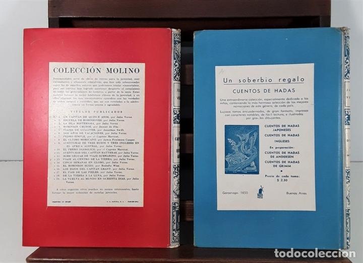 Libros antiguos: COLECCIÓN MOLINO. 4 TOMOS. JULIO VERNE. EDIT MOLINO. BARCELONA. SIGLO XX. - Foto 6 - 168039380
