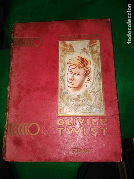 GRAN FORMATO LIBRO OLIVIER TWIST 35 X 25 X 5 CHARLES DICKENS 1928 (Libros Antiguos, Raros y Curiosos - Literatura Infantil y Juvenil - Cuentos)