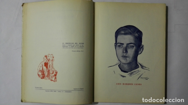 Libros antiguos: CUENTOS EN EL MAR DE LUIS MARQUES CANOS, COLECCION UN NIÑO ESCRIBE PARA LOS NIÑOS, EDITORIAL ARALUCE - Foto 5 - 168590748