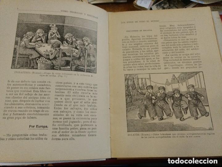 Libros antiguos: COMO TRABAJAN Y ESTUDIAN LOS NIÑOS DE TODO EL MUNDO - RAMON SOPENA EDITOR PROVENZA 95 BARCELONA - Foto 3 - 169307380