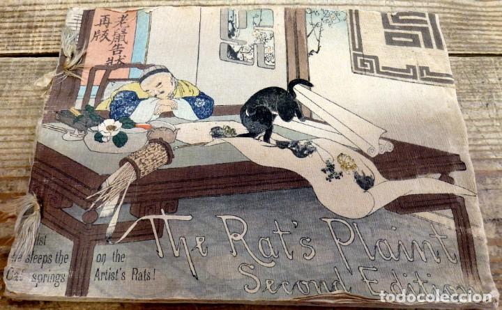 THE RAT'S PLAINT, (LA QUEJA DE LA RATA), 1894,T. HASEGAWA, EN PAPEL CREPE O SEDA, RARISIMO, UNA JOY (Libros Antiguos, Raros y Curiosos - Literatura Infantil y Juvenil - Cuentos)